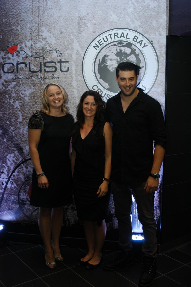 Crust Franchisees Peter and Nina Augoustis and business partner Shivaun Bromley