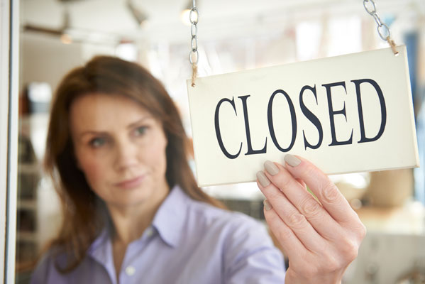 Struggling businesses should close on their own terms