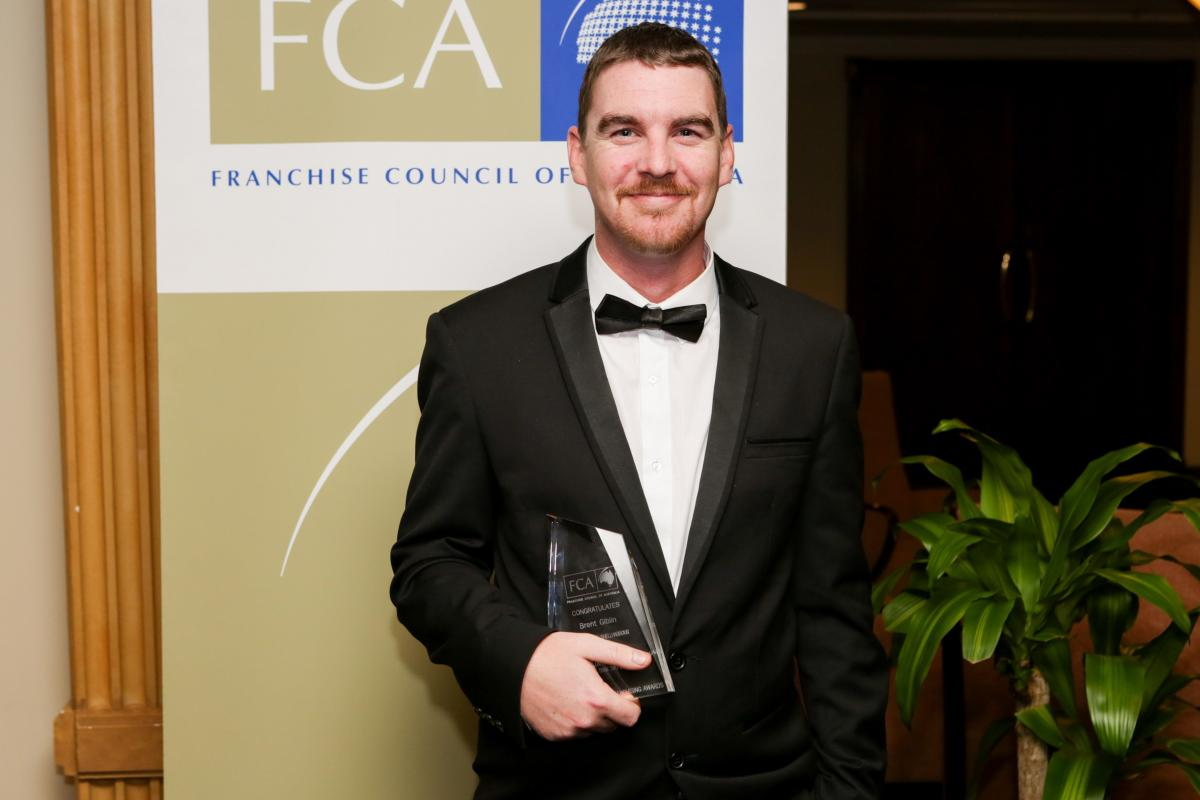 Brent Giblin of Mister Minit, Shellharbour, NSW/ACT Single Unit Franchisee of the Year, less than two staff