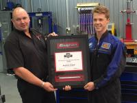 Colin Driver, Snap-on and Ben Fretwell Snap-on AOTY 2015 receiving prize
