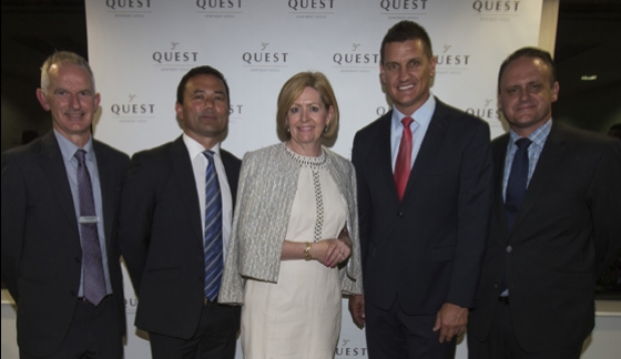 AFL greats Bell and Jakovich join Lord Mayor Scaffidi to officially open Quest West Perth resized