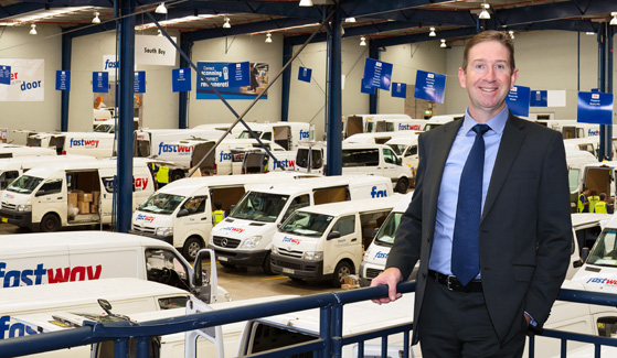 Fastway Couriers CEO Richard Thame Sydney Depot